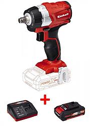 Ударный гайковерт бесщеточный Einhell TE-CW 18Li BL - Solo + зарядное устройство и аккумулятор 18
