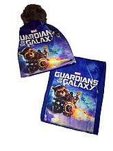 Комплект с героями стражи Галактики шапка бафф на флисе
