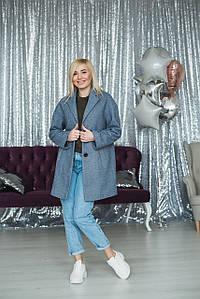 Демисезонное пальто женское джинс