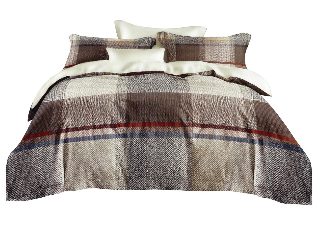 Комплект постельного белья Микроволокно HXDD-793 M&M 9070 Бежевый, Коричневый
