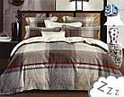 Комплект постельного белья Микроволокно HXDD-793 M&M 9070 Бежевый, Коричневый, фото 2
