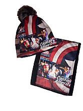 Комплект Капітан Америка Залізна людина шапка бафф на флисі