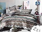 Комплект постельного белья Микроволокно HXDD-834 M&M 9223 Коричневый, Серый, Белый, фото 2