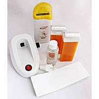 Набор для депиляции (воскоплав кассетный, 2 кассеты, масло, полоски) Zinat
