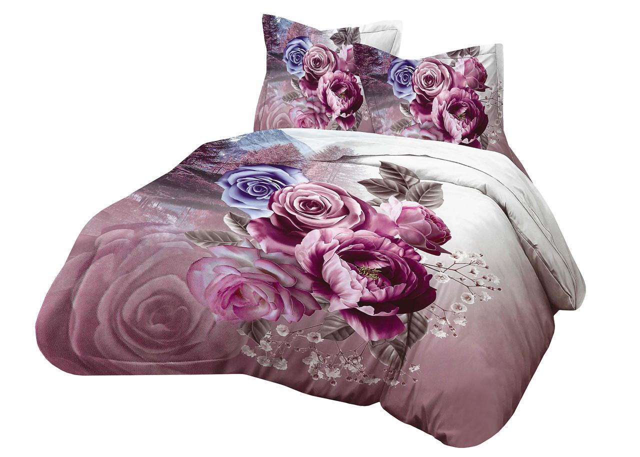 Комплект постельного белья Микроволокно HXDD-806 M&M 9285 Розовый, Кремовый