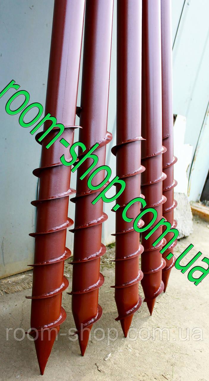 Геошуруп (многовитковая паля, БЗС) діаметром 57 мм довжиною 5.5 метрів