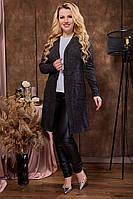 Кардиган с ангори женский длинный черного цвета