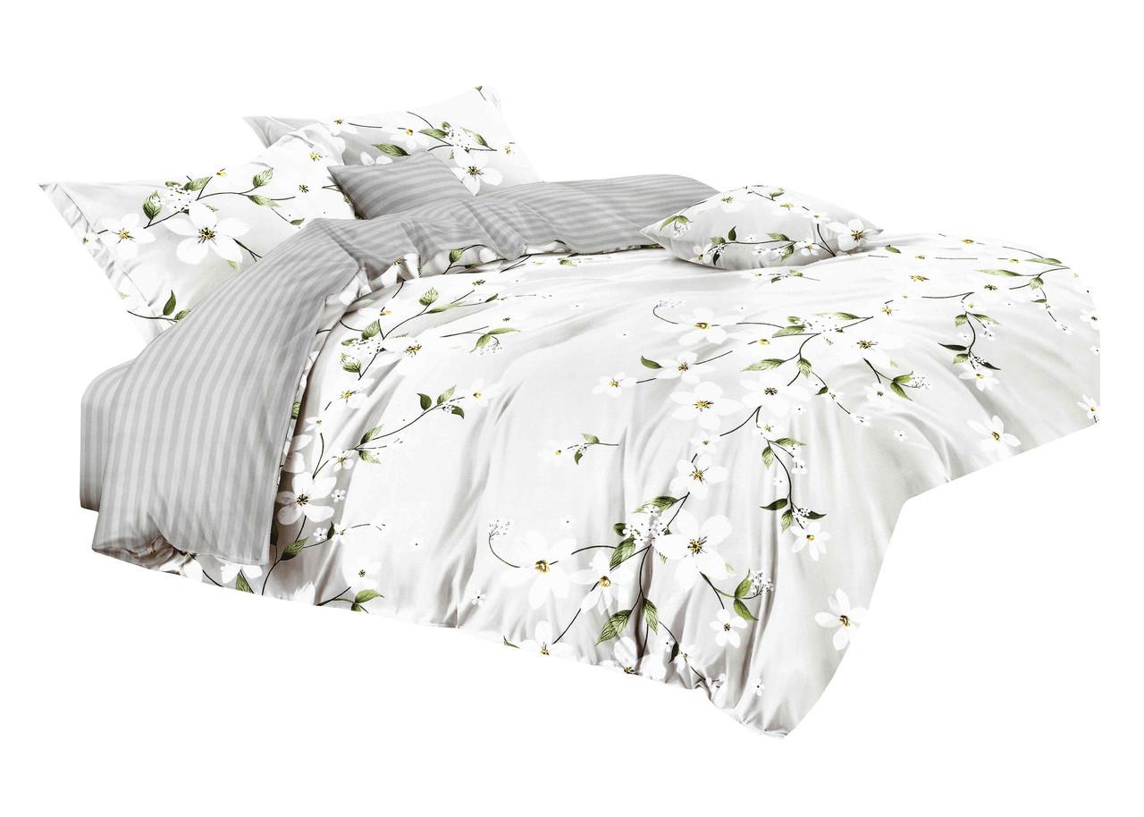 Комплект постельного белья Микроволокно HXDD-809 M&M 1479 Кремовый, Серый