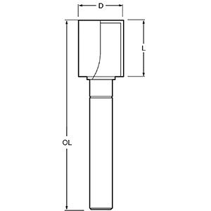 Фреза TCT з підшипником 90 ° Makita (P-79055), фото 2