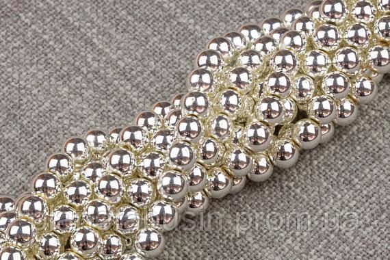 8 мм Гематит, CN354, Натуральный камень, бусины, Форма: Шар, Отверстие: 1 мм, кол-во: 54-55 шт/нить
