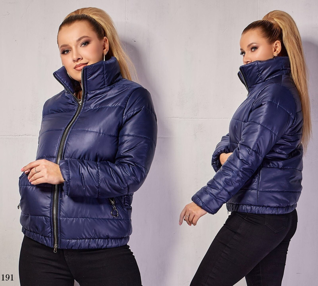 Куртка короткая стойка весна 100 синтепон плащевка 48-50,52-54,56-58