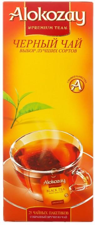 Чёрный чай  ALOKOZAY  25 пакетиков