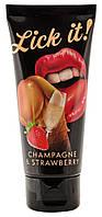 Вкусовое желе *Lick-it (клубника в шампанском), 100 мл, фото 1