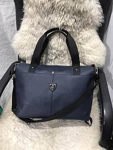 Вместительная женская сумка разных цветов из кожзама для фитнеса 40*32*13 см