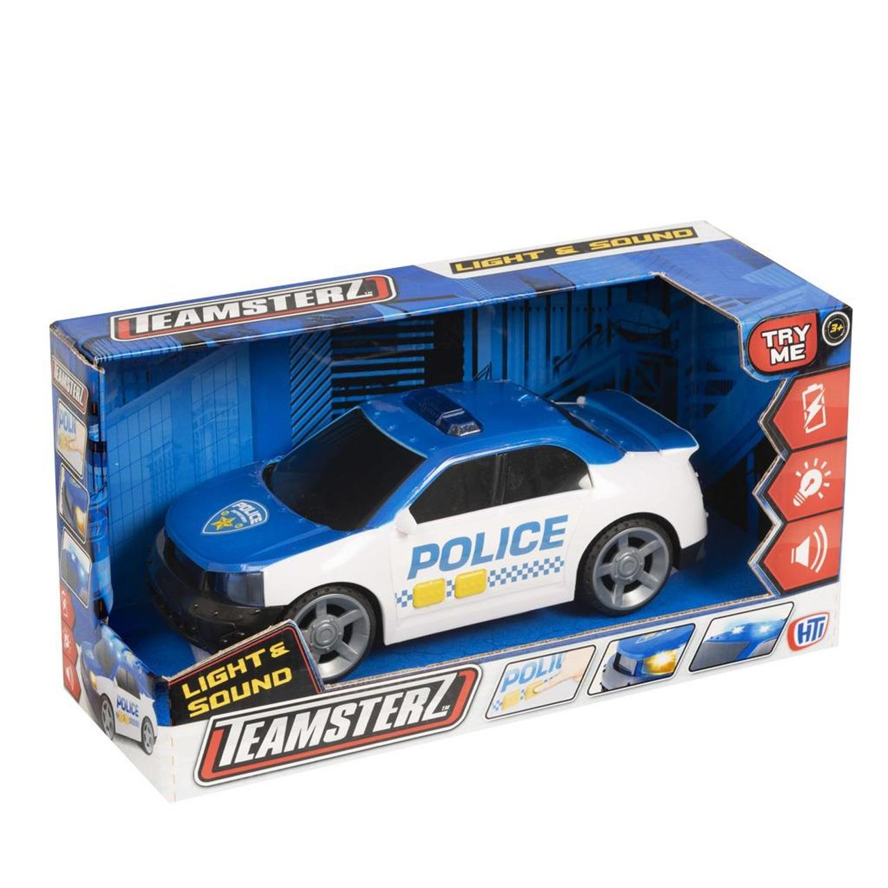 Машина  HTI Полицейский автомобиль со светом и звуком, 25 см Teamsterz  1416839
