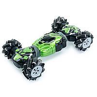 Трюковая машина перевертыш на радиоуправлении, Машина-трансформер 40 см Зеленая