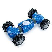 Трюковая машина перевертыш на радиоуправлении, Машина-трансформер 40 см Синяя