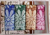Набор полотенец кухонных для рук лен махра 50х25 раз 4 шт (Q-576)
