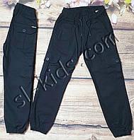 Джоггеры(карго) для мальчика 6-10 лет(черные01) розн пр.Турция