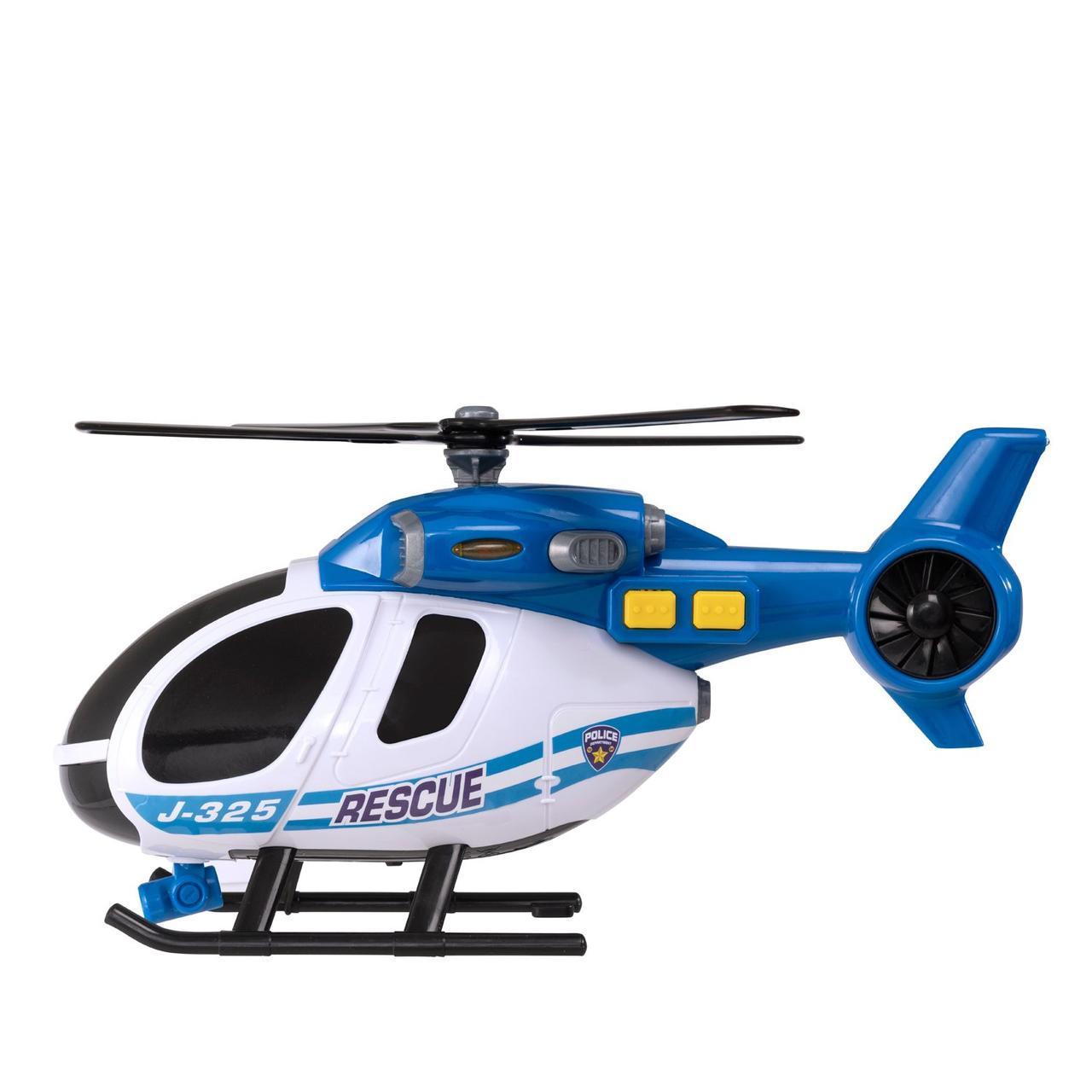 Машина HTI Поліцейський вертоліт зі світлом і звуком, 25 см Teamsterz 1416840