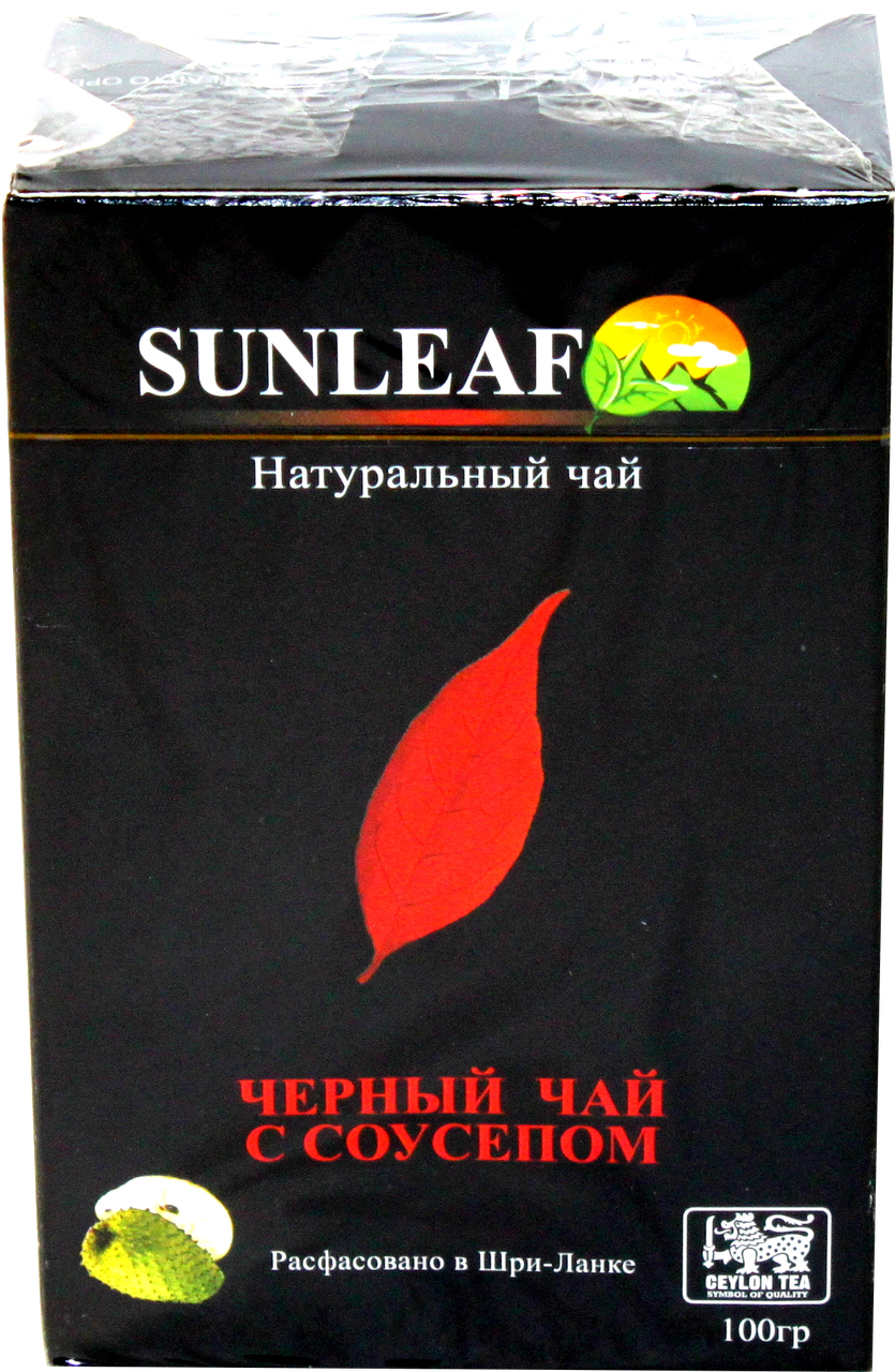Чай чёрный ( заварной) со вкусом кусочками соусепом  SUNLEAF 100 грамм