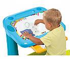 """Дитяча пластикова парта-мольберт з висувним ящиком """"Магічна"""" Smoby 420218 для дітей, фото 4"""