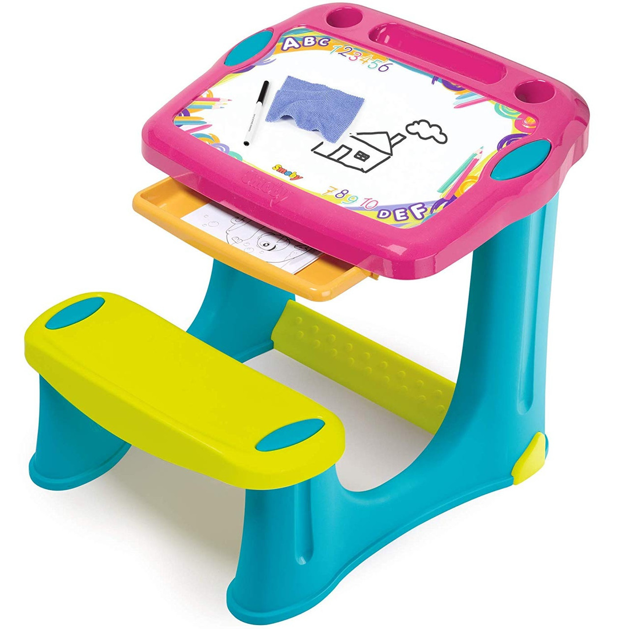 """Детская пластиковая парта-мольберт с выдвижным ящиком """"Магическая"""" Smoby 420219 для детей"""