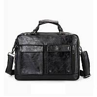 Сумка мужская черная, офисная, деловая, стильная OSKO OFFICE BAG BLACK