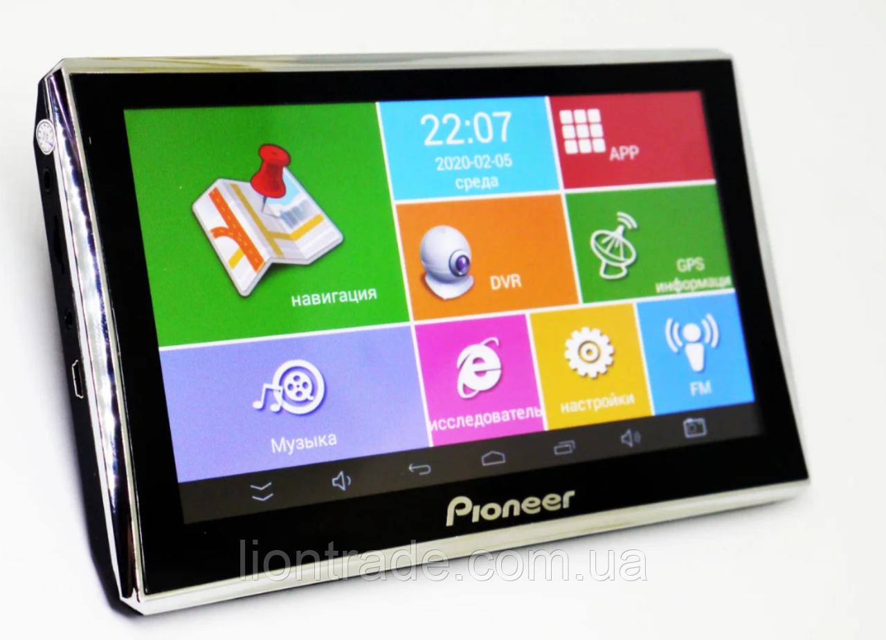 7'' Видеорегистратор-навигатор Pioneer A7001S + GPS+ 4Ядра+ 512MbRam+ 8Gb+ Android