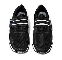 Кросівки кеди чоловічі на липучці чорні 43 розмір, фото 3