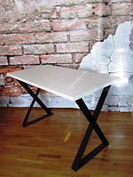Стол обеденный, письменный 120*60 см Loft (Лофт) (белый с черным) (стол 8)