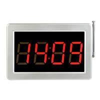 Приёмник табло для вызова официанта, медсестры беспроводный RETEKESS F3290, LED экран, 4 цифры, часы