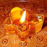 Восковая чайная свеча Бабочка (мотылек) в пластиковом прозрачном контейнере; натурального пчелиный воск, фото 9