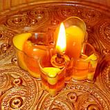 Восковая чайная свеча Бабочка (мотылек) в пластиковом прозрачном контейнере; натурального пчелиный воск, фото 10