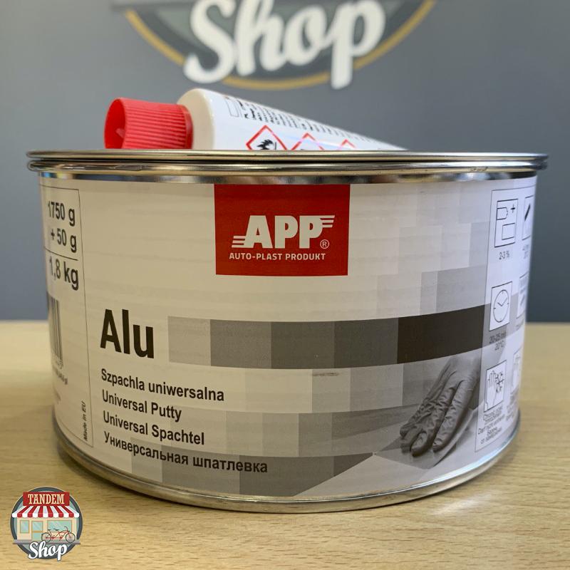 Шпатлевка с алюминиевой пудрой APP ALU POLY PLAST,  1,8 кг