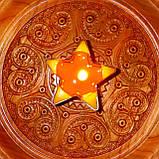 Восковая чайная свеча Звезда 26г в пластиковом прозрачном контейнере; натурального пчелиный воск, фото 9