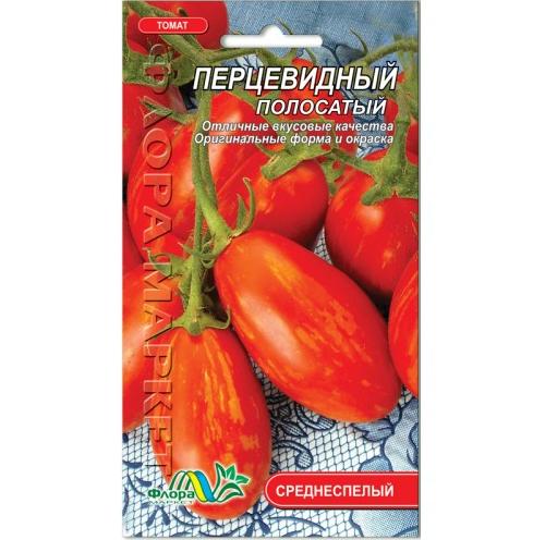 Томат Перцевидный полосатый высокорослый, семена 0.1 г