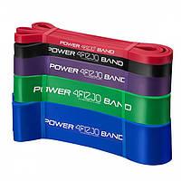Набор эспандер-петли для подтягивания, турника, воркаута и фитнеса 4FIZJO Power Band 5 шт 6-46 кг, фото 1