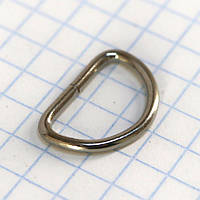 Полукольцо 12,5 мм никель для сумок a5584 (400 шт.), фото 1