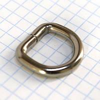 Полукольцо 15 мм никель для сумок a5586 (100 шт.)