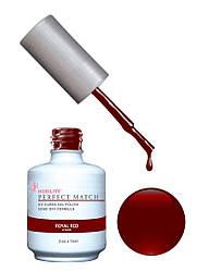 Гель-лак Lechat Perfect Match 06 Royal Red - темно-красный, матовый,  15 мл