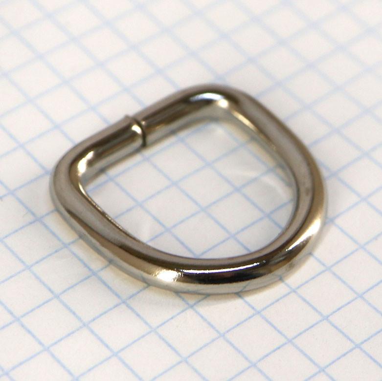 Полукольцо 20 мм никель 20*20*3,9 для сумок t4225 (40 шт.)