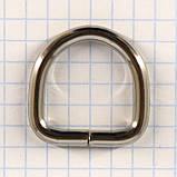 Полукольцо 20 мм никель 20*20*3,9 для сумок t4225 (40 шт.), фото 2