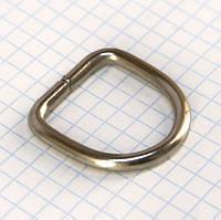 Полукольцо 25 мм никель для сумок t4224 (30 шт.)