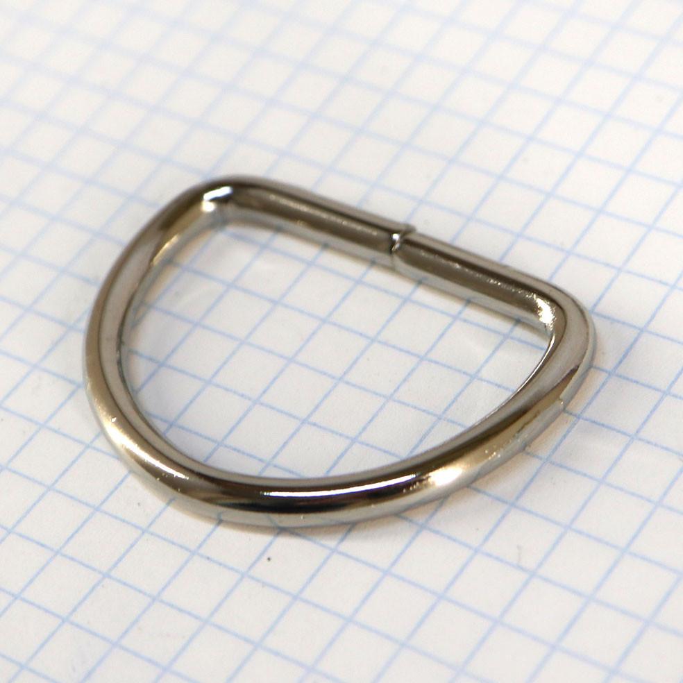 Полукольцо 35 мм никель 35*24*3,9 мм для сумок t4213 (30 шт.)
