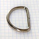 Полукольцо 35 мм никель 35*24*3,9 мм для сумок t4213 (30 шт.), фото 3