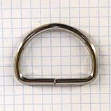 Полукольцо 35 мм никель 35*24*3,9 мм для сумок t4213 (30 шт.), фото 4