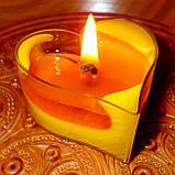 Восковая чайная свеча Валентинка 36г в пластиковом прозрачном контейнере, фото 8