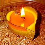 Восковая чайная свеча Валентинка 36г в пластиковом прозрачном контейнере, фото 9