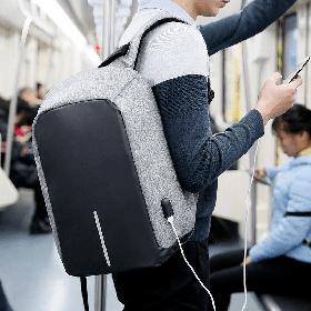 Рюкзак Bobby Bag Антивор для ноутбука + USB порт Серый